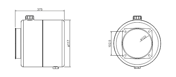 Quote serbatoio cilindrico in acciaio 5 litri