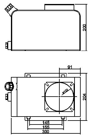 Quote serbatoio stagno in acciaio 7 litri